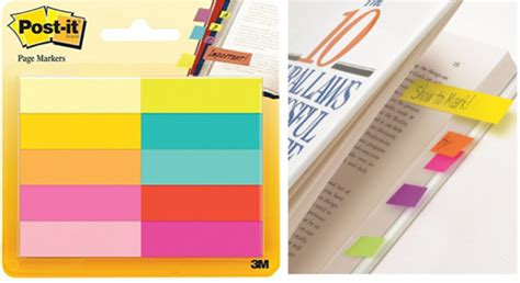 Treeinart Schedule Marker Post Its post it note multicolor page markers 10 pack just 3 free shipping