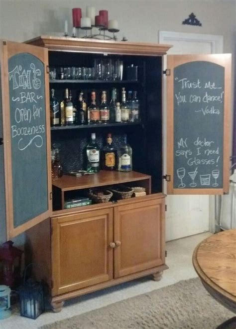 armoire bar ideas an old armoire turned into a bar did this project as a
