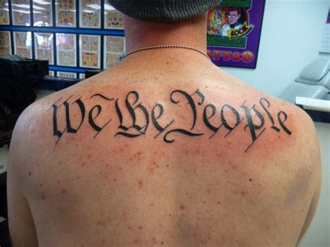 we the people tattoo quot we the quot by dave s hwy