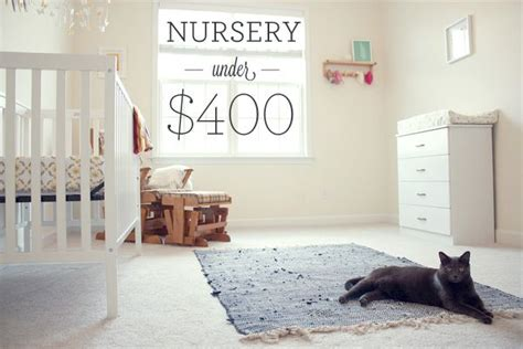 decorating a nursery on a budget here s how to create a cheap diy nursery with furniture and decorations for less than 400