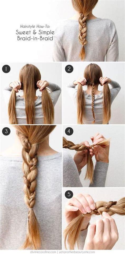 sweet  simple braid  braid hair tutorial pictures
