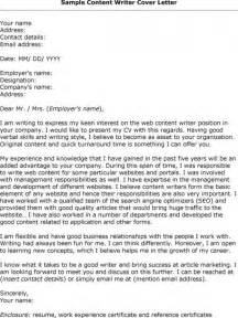 Writer Cover Letter Cover Letter In Template