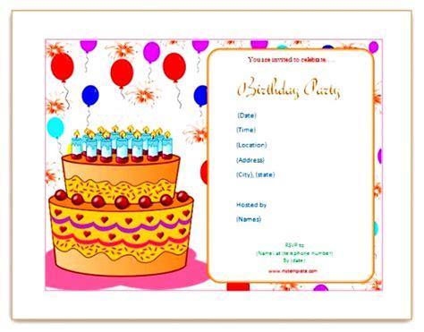 Blank Birthday Invitation Card Template by 26 Images Of Birthday Invitation Blank Template