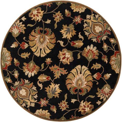 artistic weavers burbank black wool 6 ft area rug