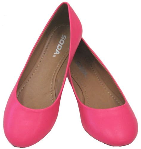 pink flat color scout hot pink neon vegan ballerina flats can i have one