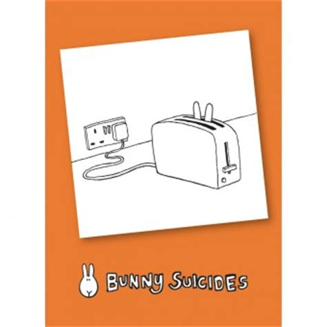 Death By Toaster Bunny Suicides Death By Toaster Fridge Magnet And Coaster