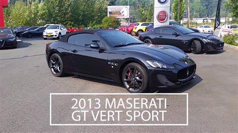 Seattle Maserati by 2013 Maserati Granturismo Convertible Sport Maserati Of