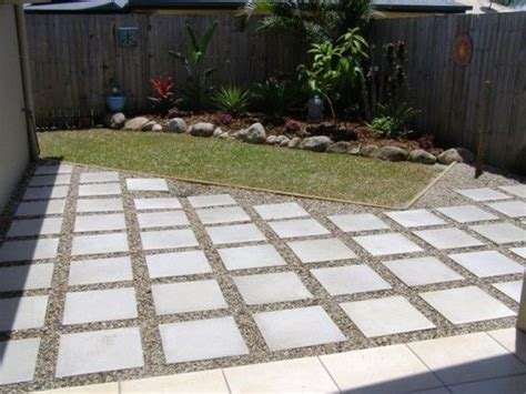 diy extending concrete patio with pavers patio pavers with spaces backyard pinterest