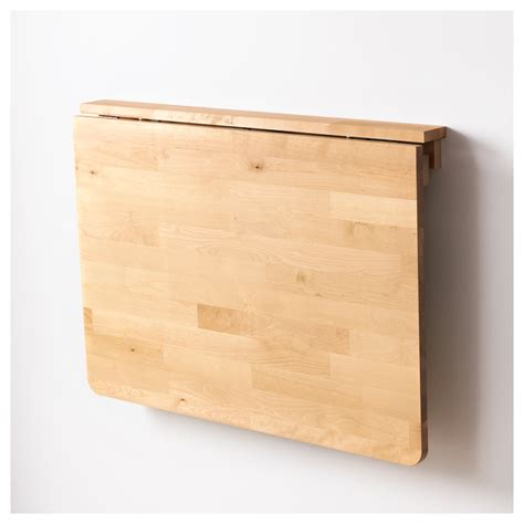 Wood Wall Mounted Drop Leaf Table For Small Modern Kitchen