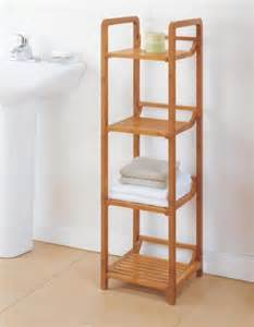 bathroom tower shelves new 4 tier bamboo bathroom shelf towel tower organizer ebay