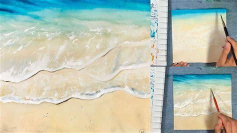 watercolor waves tutorial easy waves watercolors painting tutorial youtube
