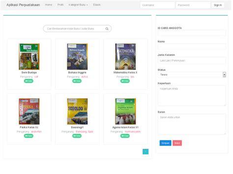 membuat website perpustakaan software aplikasi perpustakaan berbasis web