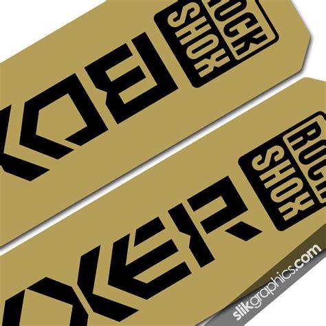 Gold Ochsen Aufkleber by Metallic Rockshox Boxxer 06 09 Style Decals Slik Graphics