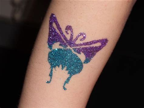 glitter tattoo designs glitter and paint