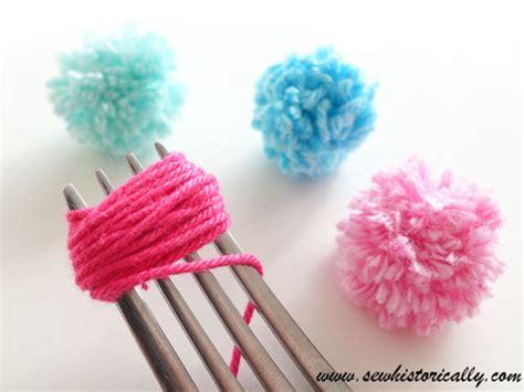 Pompom Mini Metalik Pom Pom diy mini yarn pom poms sew historically