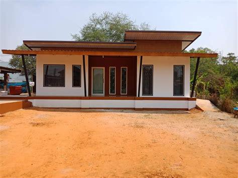 modern design small house 2018 แบบบ านอ ฐประสาน สไตล โมเด ร น ใช งบประมาณ 6 แสนบาท บ านสไตล