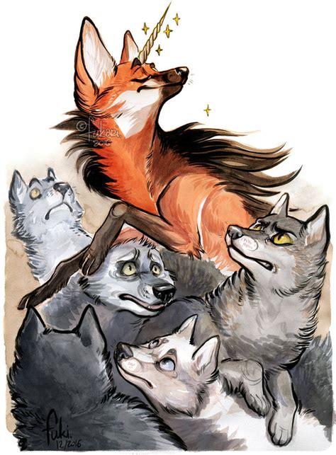 A Among Wolves unicorn among wolves by fukari on deviantart