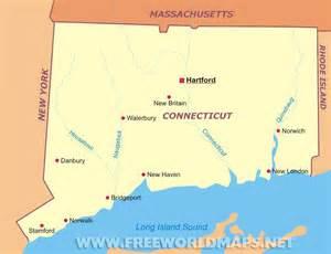 us map showing connecticut connecticut maps