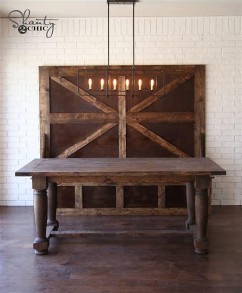 diy farmhouse table turned legs diy turned leg farmhouse dining table shanty 2 chic