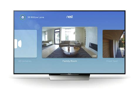 stream tv couch nest adds android tv support watch live feeds while on