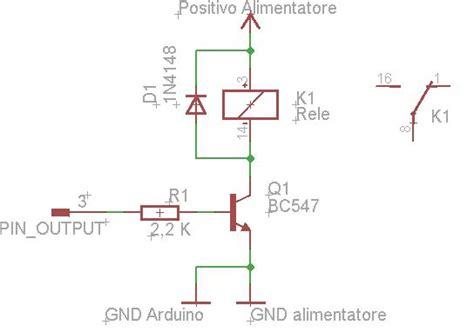 funzionamento transistor bc547 arduino e i rel 232