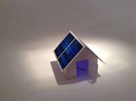 Make Paper House - solar powered pop up paper house