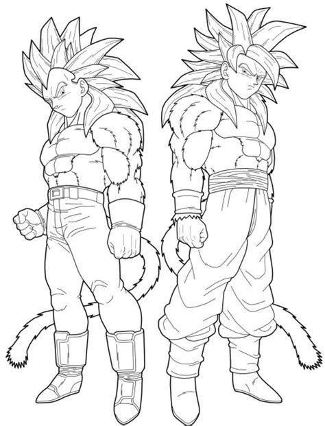 dragon ball z goku super saiyan 2 coloring pages dragon ball vegeta and goku transforms into a super saiyan