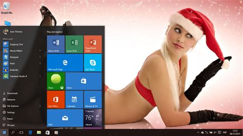 hot themes pc christmas girls theme for windows 7 8 8 1 and 10 save themes