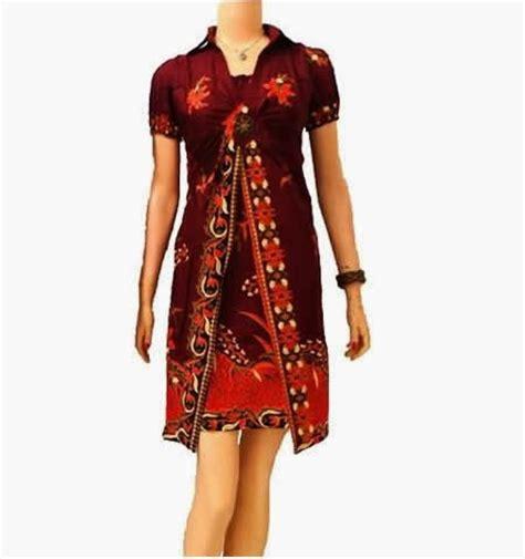 Dress Batik Wanita E 09 kemeja seragam club motor version baju kerja resmi wanita