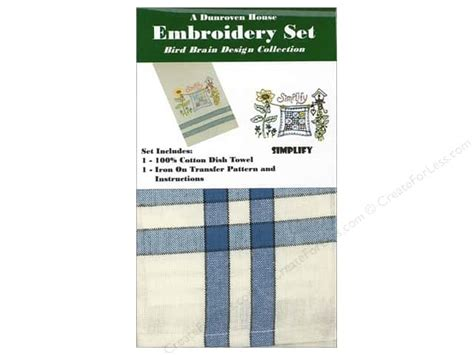 dunroven house dunroven house towel embroidery set simplify createforless