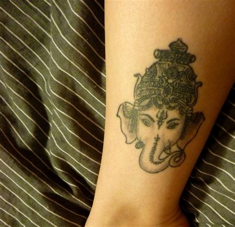 ganesh tattoo placement ganesha god of strength and fortitude the remover of