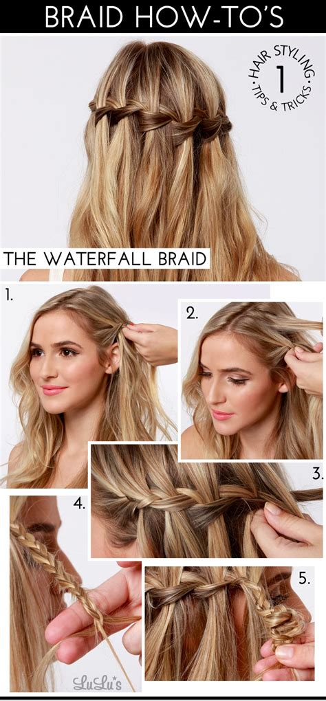 hairstyles how to do a waterfall waterfall braid tutorial step by step wallpapers gallery