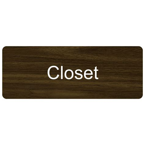 Signs Of A Closet by Closet Engraved Sign Egre 276 Whtonwlnt Wayfinding Room Name