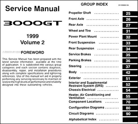 service manual auto repair manual online 1999 mitsubishi 3000gt parking system service