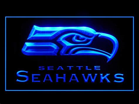 seahawks light up sign seattle seahawks football ads led light sign b ebay