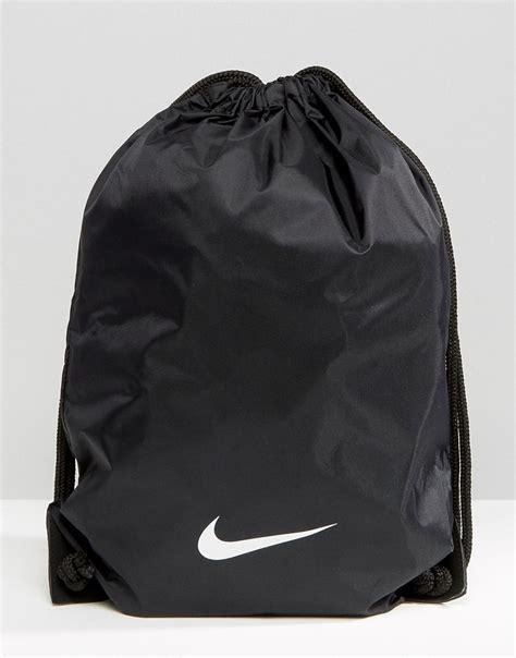 nike nike drawstring backpack ba2735 001 at asos