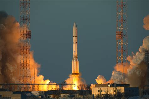 Proton Rocket Launch by Liftoff Of A Proton M Rocket Carrying The Intelsat F 2