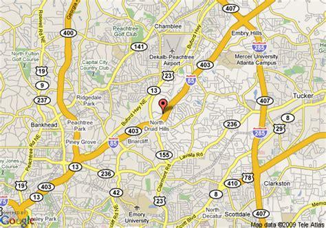 atlanta ga on us map map of atlanta marriott century center atlanta