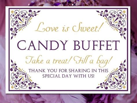 Buffet Wedding Wedding Templates And Candy Bar Signs On Pinterest Buffet Signs Templates