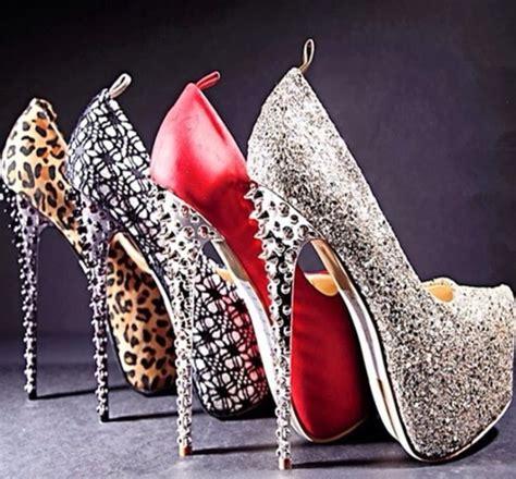black silver chrome spiked studded high heel