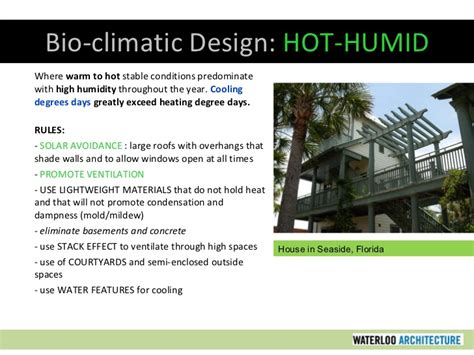 design criteria for warm and humid climate sustainable design part two climate related issues
