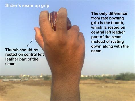cricket swing bowling grip seam bowling grip