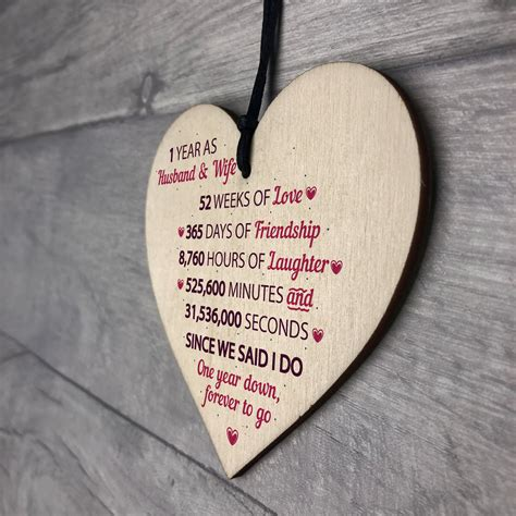 1st wedding anniversary gifts uk 1st wedding anniversary gift wooden heart first wedding