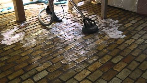 Cleaning Interior Brick by Renovating An Brick Floor