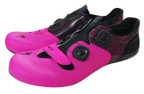 pink bike shoes specialized s works 6 neon pink road shoes limited