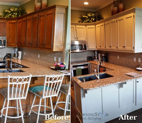 refinished cabinets before and after refinishing before and after