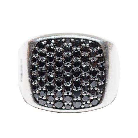 Houston Home Decor David Yurman Men S Pav 233 Signet Ring With Black Diamonds