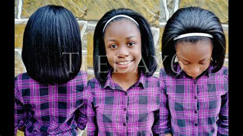 teens sew in weave kid friendly sew in for pre teens teens teeday6 youtube