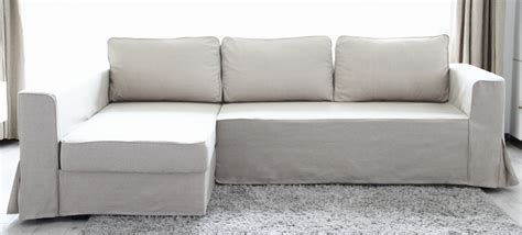 sectional couch slipcover beautify your ikea sofa with custom long skirt slipcovers