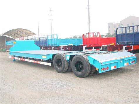 semi truck bed china low flat bed semi trailer china truck trailer